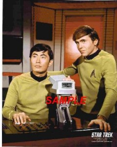 Sulu and Chekov on Star Trek