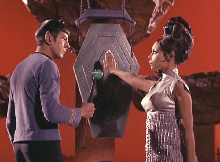 Leonard Nimoy as Spock and Arlene Martel as T'Pring on Star Trek